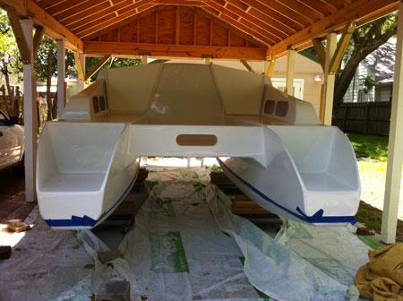 Plans for the Double Shuffle catamaran