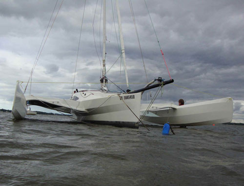 Plans for the Scarab 22 folding trimaran